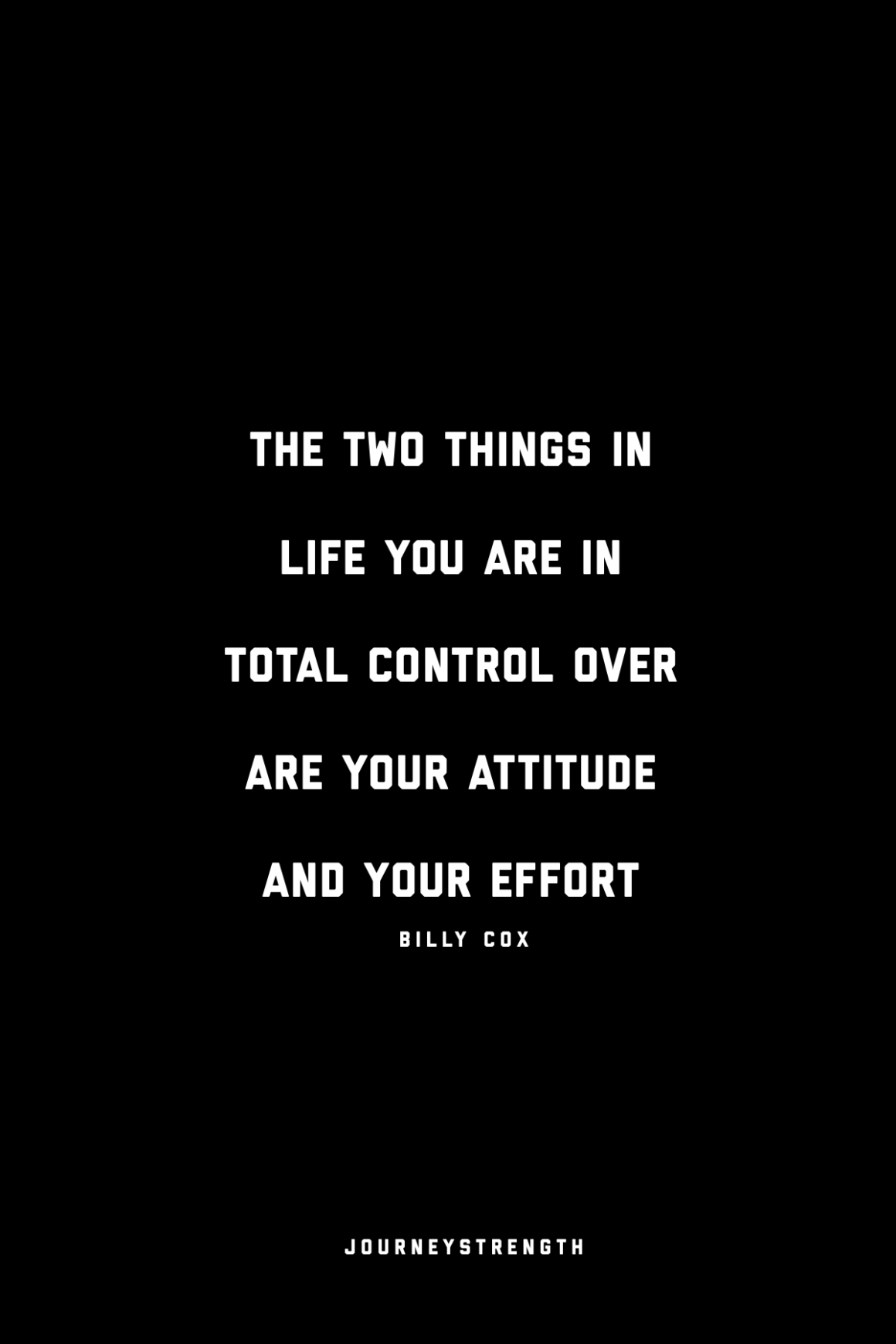 the things in life you are in total control over are your attitude and your effort. quotes