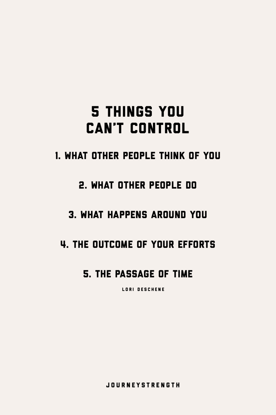 a list of things you can't control quotes